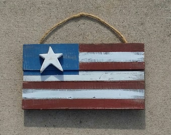 Rustic Wood Flag (small)