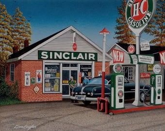 Sinclair gas station print