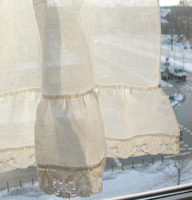 Rüschen Vorhänge weiße Vorhänge Retro Gardinen Cafe Vorhänge