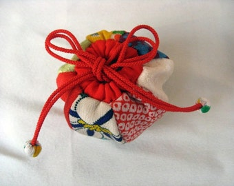 Balloon.Japanese Silk Kimono fabric,Chirimen Zaiku No.30