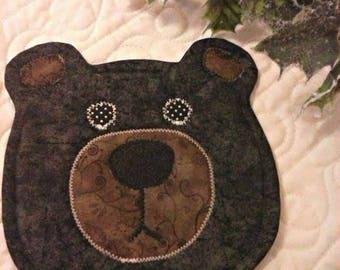 NEW - Bear Mug Rug - Mug Rug - Coasters