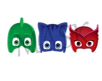 3 PYJAMASQUE - PJ Masks JPEG files downloadable