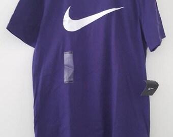 Purple Nike swoosh t-shirt, men's large,  NWT!