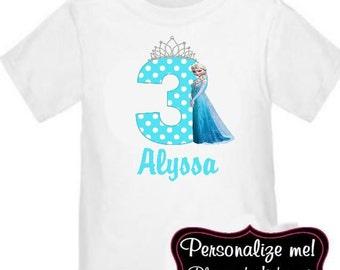 Princess Personalized Birthday Shirt - ANY AGE