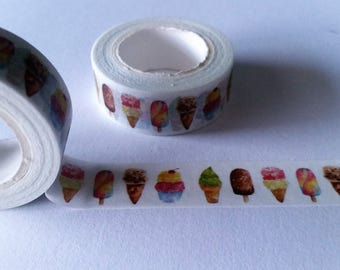 Popsicle and Ice Cream Cone Washi Tape