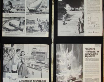 Sci Fi Science Class Posters 1960s with X-Large Color Poster No. 6 Collection