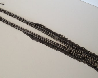 New! Gunmetal Chain Fringe Necklace