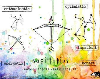 Zodiac Sagittarius Stamp Set - Clear Stamp - Rubber stamp