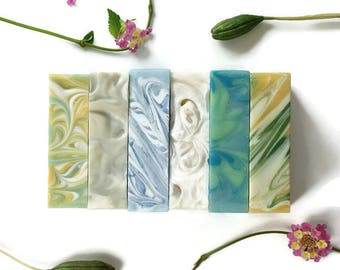 6 Soap Variety Pack | FREE SHIPPING, Cold Process Soap, Vegan Soap, Artisan Soap, Gift Idea, Christmas Gifts | You Choose Six Soaps