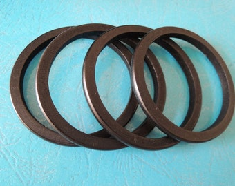 8Pcs  Black Wood Bangle Wood ring  69mm ( W423-3)