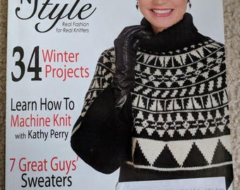 Knit 'n Style Magazine February 2010 Issue - 34 Winter Projects - Real Fashion for Real Knitters - Sweaters for Guys