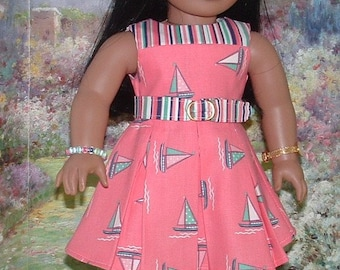 Summer Sail Dress and Shoes for American Girl Dolls