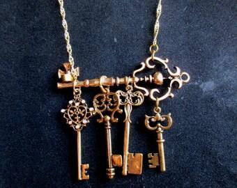 Golden Keys Necklace