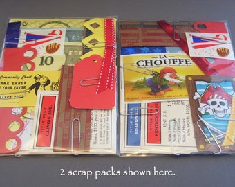 Primary Colors Scrap Pack Creativity Kit/Red, Yellow, Blue Paper Scrapbooking, Cardmaking, Collage, and Art Journaling Supply/Paper Destash