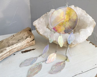Sun Catcher, Hanging Ornament, Peace Sign, Dream Catcher, Wall Hanging, Home Decoration, Unique Gift, Fairy Wings, Faerie Magic