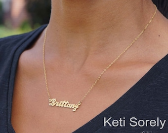 Nameplate necklace etsy personalized name necklace customize it with your name nameplate necklace in 14k gold aloadofball Image collections