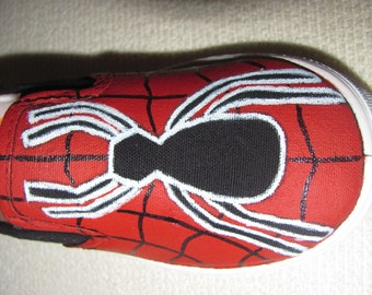 Adult custom painted Spider shoes
