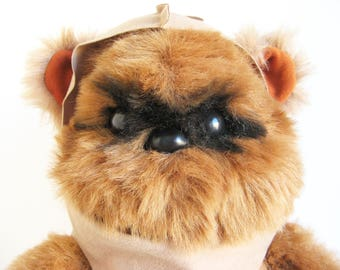 Vintage Ewok Wicket Plush Star Wars Return of the Jedi Kenner 1980s Toy Stuffed Animal