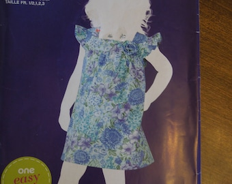 Simplicity 1835, sizes 1/2, to 3, UNCUT sewing pattern, craft supplies, toddler's dress