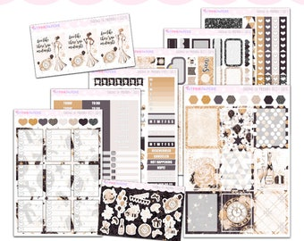 182 | Stroke of Midnight Deluxe 9 Page Weekly Kit sized for Erin Condren & Happy Planner