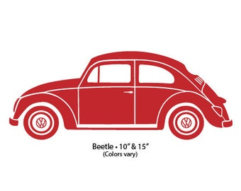 "Decal 10"" VW Beetle"