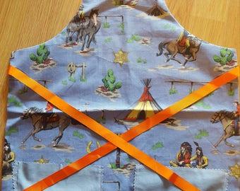 Childrens Apron Handmade Reversible - Perfect Gift