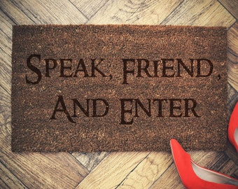 "LOTR doormat coconut "" Speak Friend and Enter"" 60x40cm coconut"