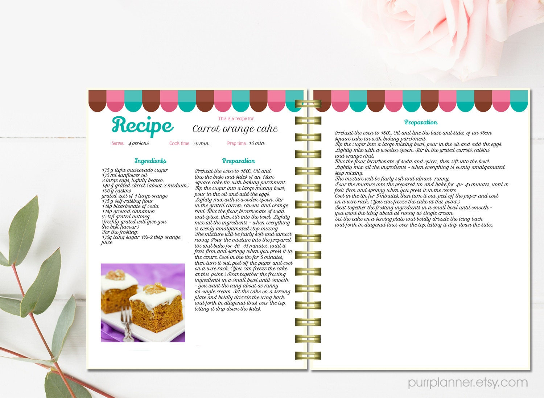 digital recipe book template - Dorit.mercatodos.co