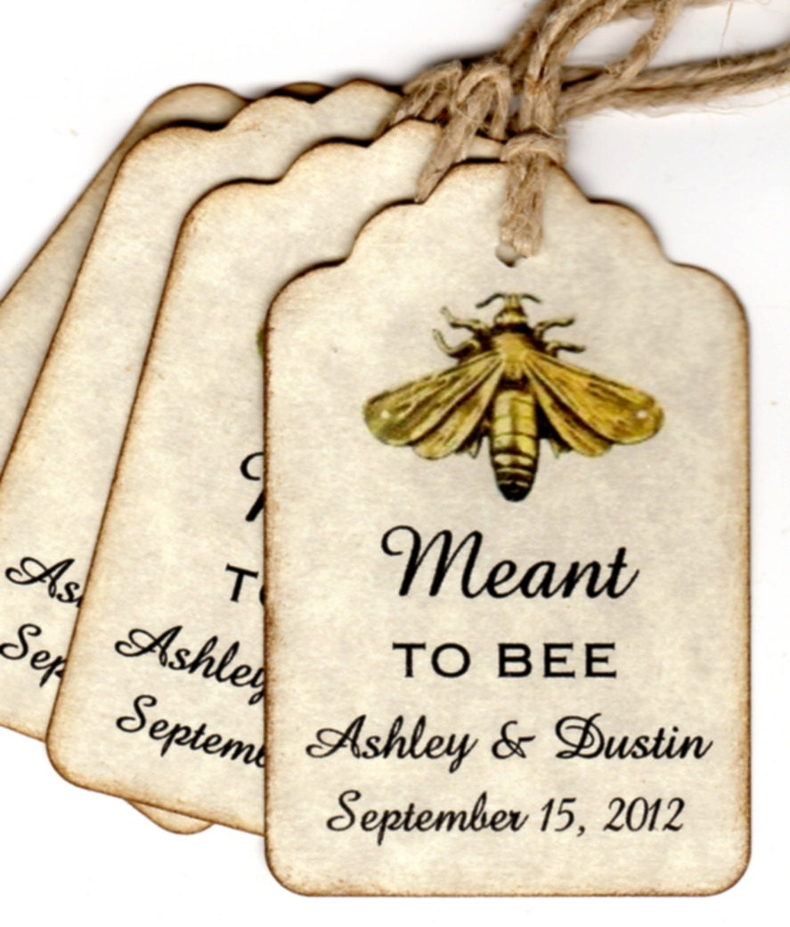 Personalized Wedding Tags For Honey Favors Bridal Shower Tags