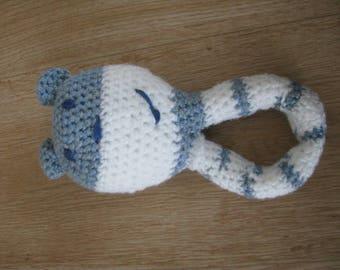 Teddy bear rattle crochet handmade