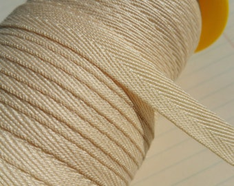 """Natural Twill Tape Trim - POLYESTER - Sewing Banners Bunting Shipping Packaging - 3/8"""" Wide - 10 Yards"""