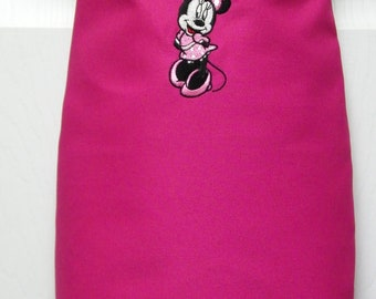 Personalized (Name) Embroidered  MINNIE MOUSE Preschool Toddler Cooking, Art Painting Apron- 14 Fun Colors
