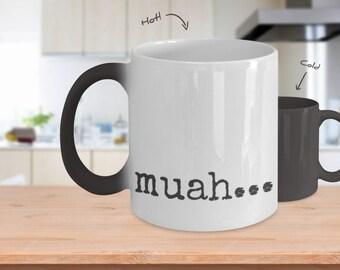 Muah...coffee mug colour changing 11oz,