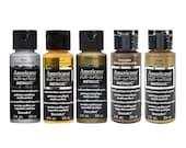 Americana Multi Surface Metallic Acrylic Paints - 59ml - Full Metallics Range