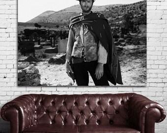 04 Clint Eastwood Western Cowboy Print