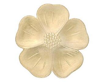 Brass stamping, 32mm x 30mm dimensional flower stamping BB-3896