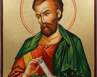 Saint St Bartholomew the Apostle Hand-Painted Byzantine Orthodox Icon on Wood 35cm x 24cm