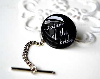 Father of the bride tie tack - gift for groom groomsmen father of the bride wedding day