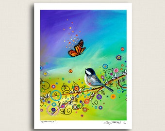 Greetings - butterfly, bird, and whatnots - Limited Edition Signed 8x10 Semi Gloss Print (5/10)