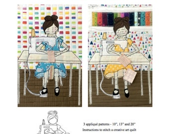 Appliqué Quilt Pattern - Sew Cute Quilter - Digital Download