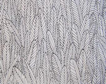 feather print fabric, per yard