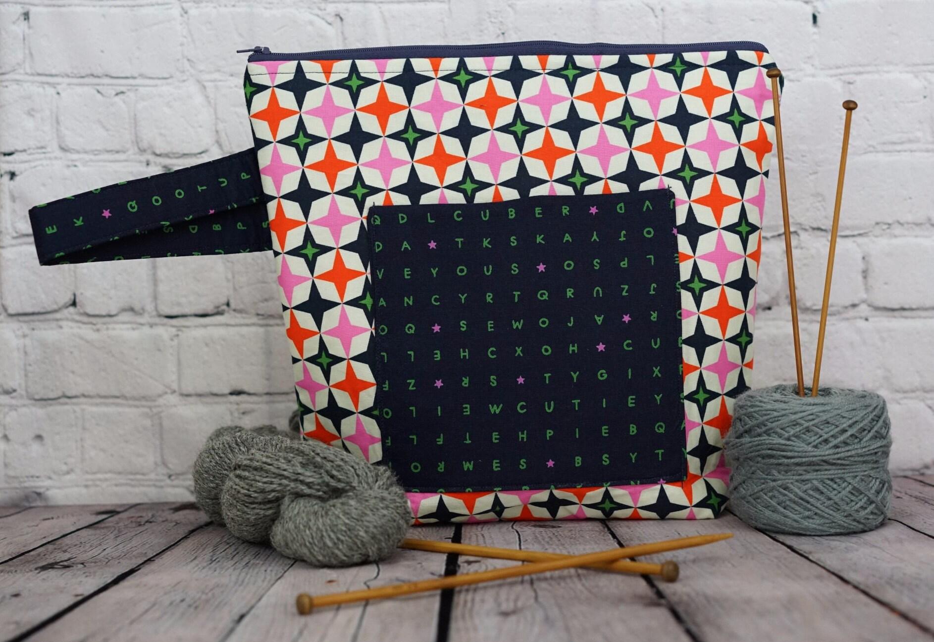 Jacks Project bag, Knitting project bag, Crochet project bag, Zipper ...