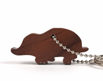 Wood Mole Key Chain, Woodland Animal Silhouette Key Ring, Nature Key Fob