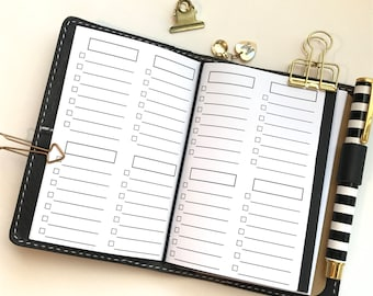 Lists Traveler's Notebook Planner Inserts | Pocket Size | Checklist To Do List
