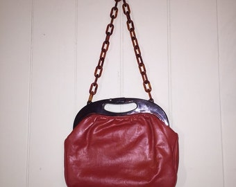 Faigen 60's burnt orange handbag