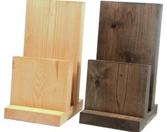 Menu Holders Pine - Table menu holders for restaurants