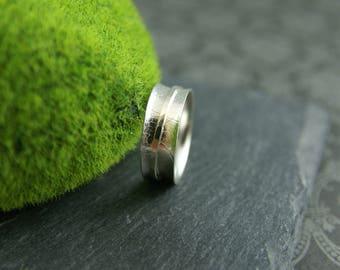 Meditation Ring, Spinner ring, silver spinner ring, 925 silver ring, women ring, spinner band, hammered ring, leaf silver ring, women ring