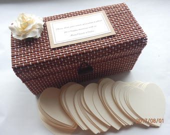 Alternative to Wedding guest book. Wedding guest box.