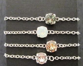 SET of 1,2,3,4,+ Sswarovski Crystal Bridesmaid Bracelets/Junior Bridesmaid Jewelry/Flower Girl Bracelet /Swarovski Bracelet/Wedding Bracelet