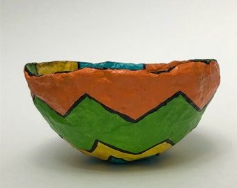 Centerpiece Bowl in Bright Colors - Blue/Orange/Green/Yellow
